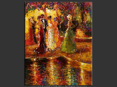 Summer Evening – 3 - original canvas painting by Lena