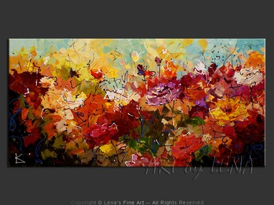 Rose Garden In The Fall - contemporary painting