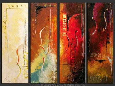 Art Deco Quartet - modern artwork