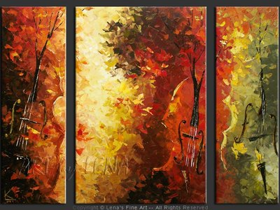 Autumn Rhapsody - modern artwork