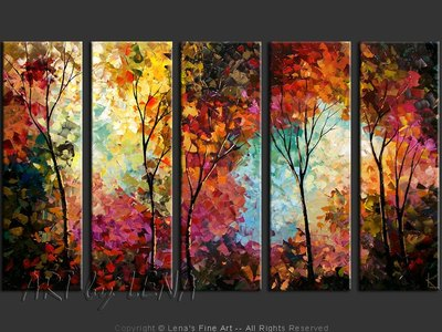 North Bay Autumn - original canvas painting by Lena