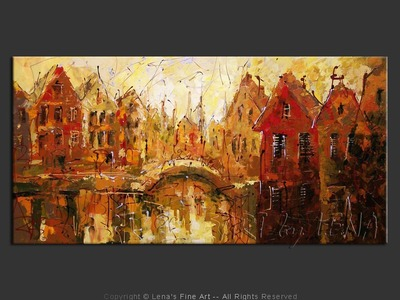 Amsterdam: Autumn Canals - contemporary painting