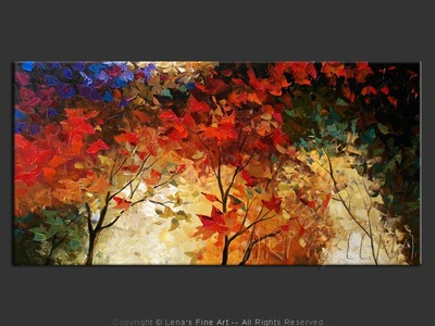 Maples In The Wind - contemporary painting