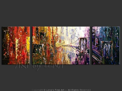 NYC: Day And Night – 2 - contemporary painting