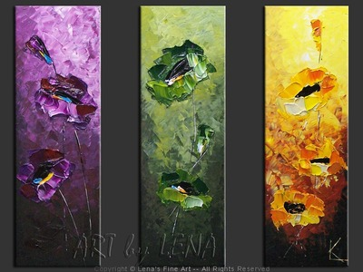 Chameleon Flowers - contemporary painting