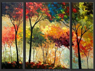 Rainbow Forest - original painting by Lena Karpinsky