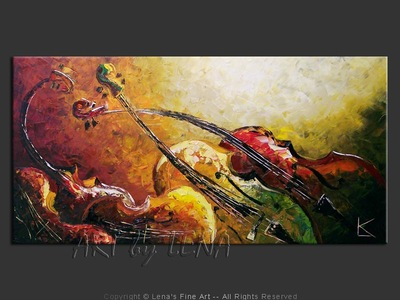 Sonata For Strings : Lento - contemporary painting