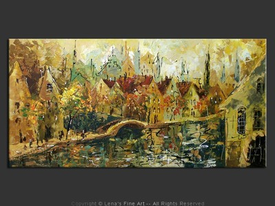Amsterdam: Autumn Morning - contemporary painting