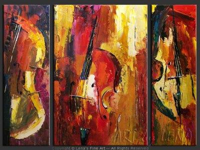 Double Bass Parade - modern artwork