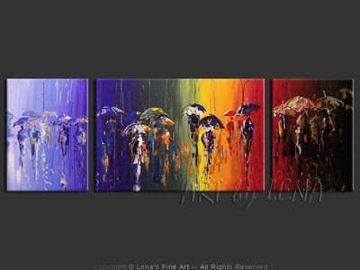 October Rainbows - home decor art