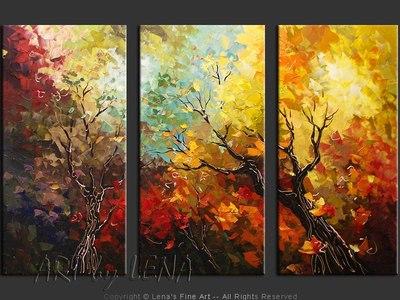 Le Ciel D'automne - original painting by Lena Karpinsky
