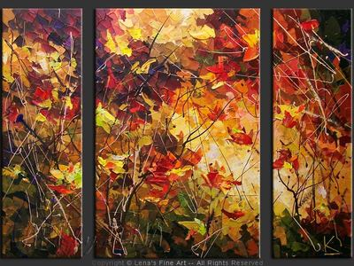 Maple Kaleidoscope - original painting by Lena Karpinsky