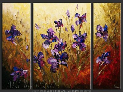 Louisiana Irises - home decor art