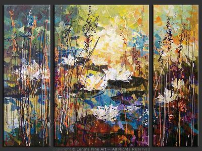Mill Pond Lilies - home decor art