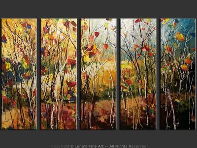 Late Autumn Forest - original painting by Lena Karpinsky