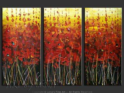 Red Fields of Southeast - modern artwork