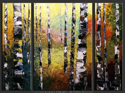 White Birches - wall art