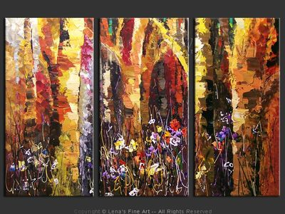Fairy Tales Forest - contemporary painting