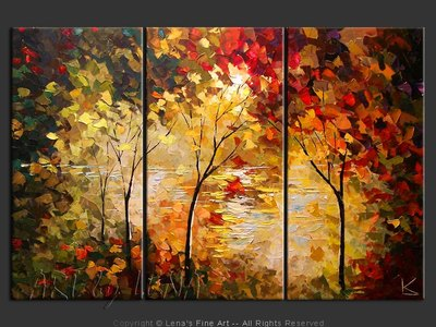 October Lake - contemporary painting