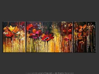 Late Autumn Garden - home decor art