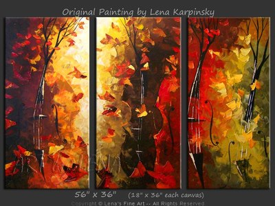 Vienna Cellos - original painting by Lena Karpinsky