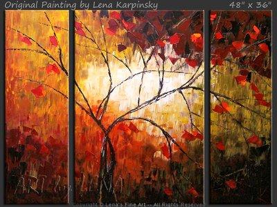 Cranberry Tree - original painting by Lena Karpinsky