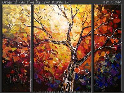 Autumn Sunset Dreams - modern artwork