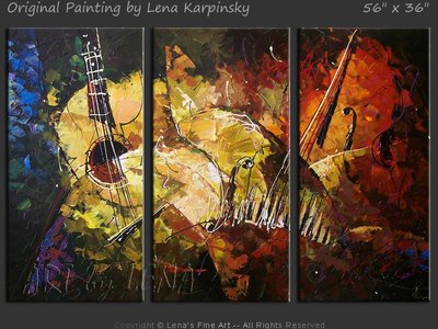 Avant-Garde Jazz - original canvas painting by Lena
