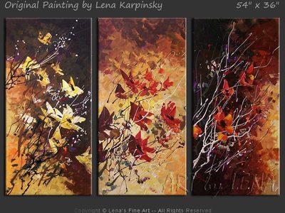 Ikebana #839 - contemporary painting