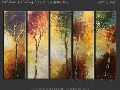 Alexandra's Forest - original painting by Lena Karpinsky