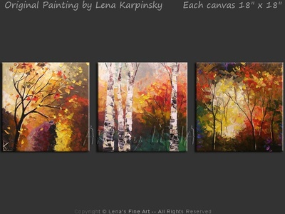 Northern Memories - original painting by Lena Karpinsky