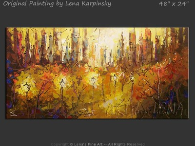Central Park Paths - contemporary painting