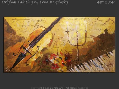 Old Time Romance - original painting by Lena Karpinsky