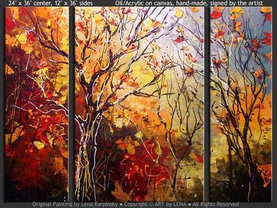 Fire Of Autumn - original painting by Lena Karpinsky