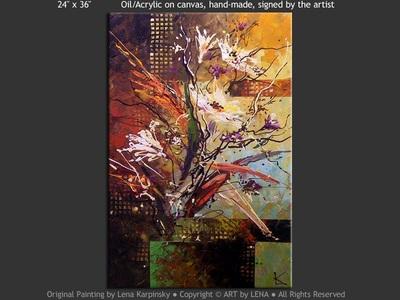 Ikebana #864 - modern artwork