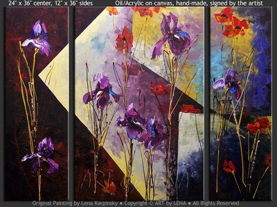 Iris Reflections - contemporary painting
