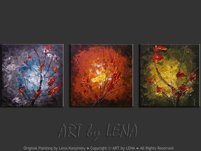 Haiku - original canvas painting by Lena
