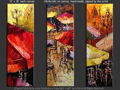 Les fameux bistros parisiens - art for sale
