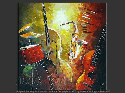 Jazz and Blues - modern artwork
