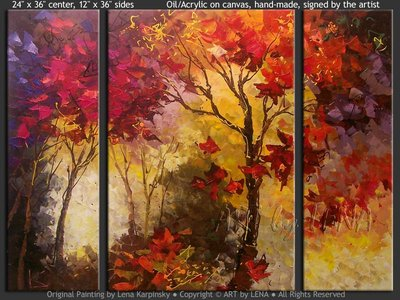 Autumn Maples - wall art
