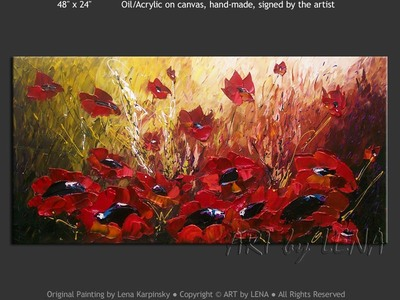 Indiana Poppies - contemporary painting