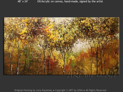 Yellow Forest - original painting by Lena Karpinsky