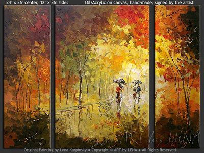 Autumn Love Story - home decor art