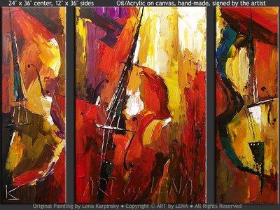 Bass Trio - home decor art