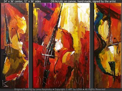 Bass Trio - art for sale