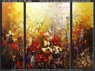 Highland Flowers - contemporary painting