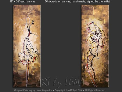 Ballet and Jazz - contemporary painting