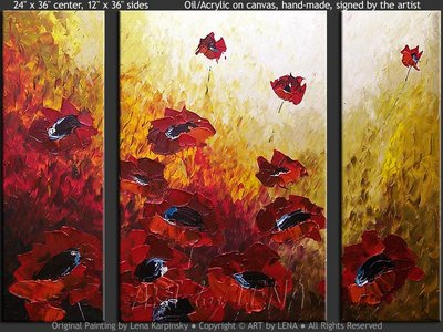 Valentine Poppies - wall art