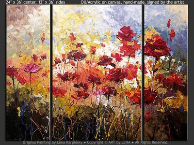 Painting The Roses Red - contemporary painting