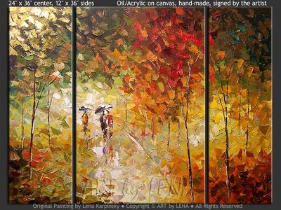 Lost Maples Trail - contemporary painting